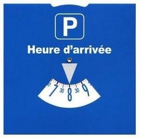 Disque de stationnement européen